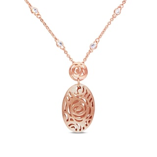 M by Miadora 18k Rose Gold Plated 2-7/8ct TGW Cubic Zirconia Necklace (16 in)
