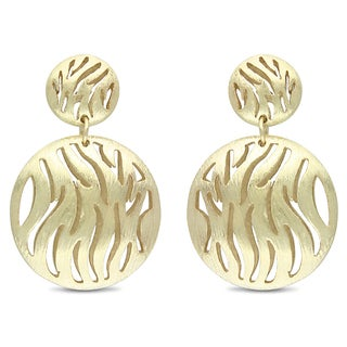 Miadora Women's 18-karat Matte-finish Gold-plated Metal Dangle Earrings
