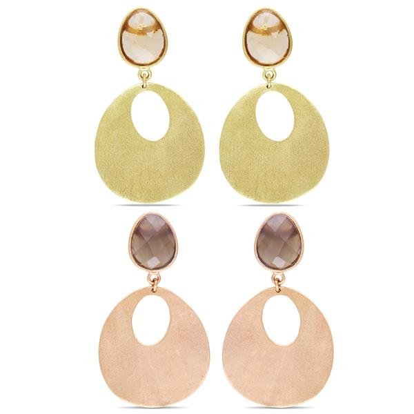 Miadora 18k Yellow Gold-plated Gemstone Dangle Earrings
