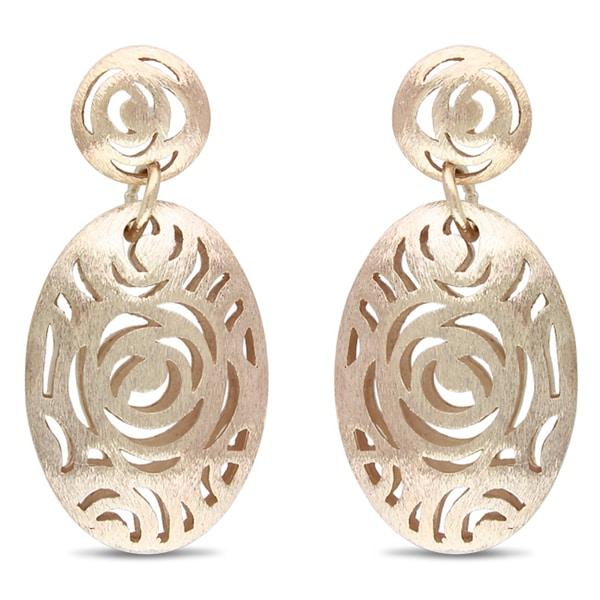 Miadora 18k Gold Plated Rosetone Dangle Earrings