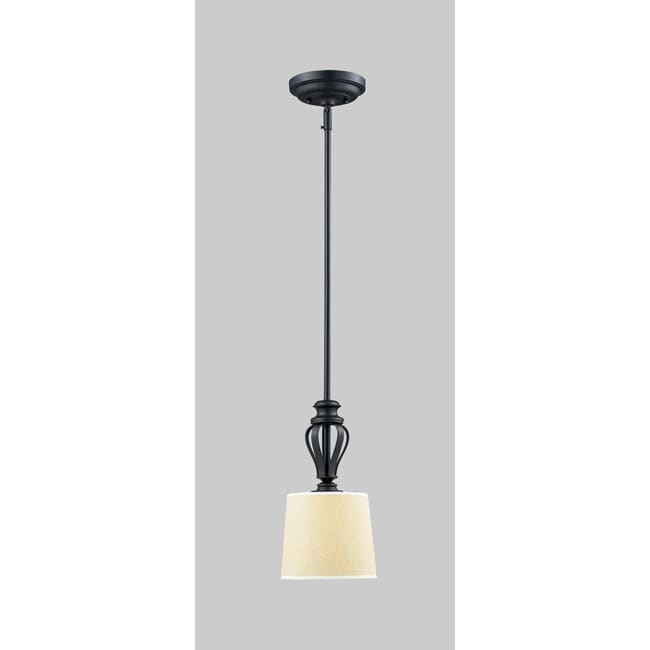 Charleston 1-light Matte Black Pendant - Thumbnail 0
