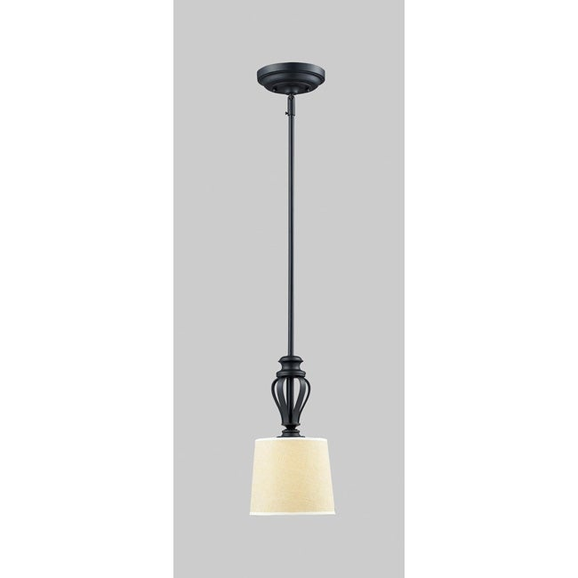 Charleston 1-light Matte Black Pendant