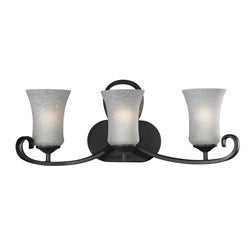 Arshe 3-light Bronze Wall Sconce