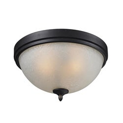 Arshe 2-light Bronze Flush Mount