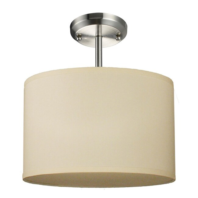 Albion One-Light Nickel Downlight Pendant