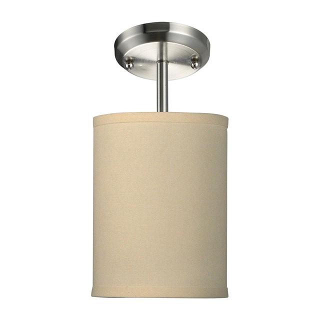 Albion Off White Drum Shade 6-inch Lighting Fixture