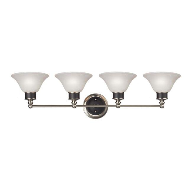Contemporary Dynasty Four-Light White Lighting Fixture