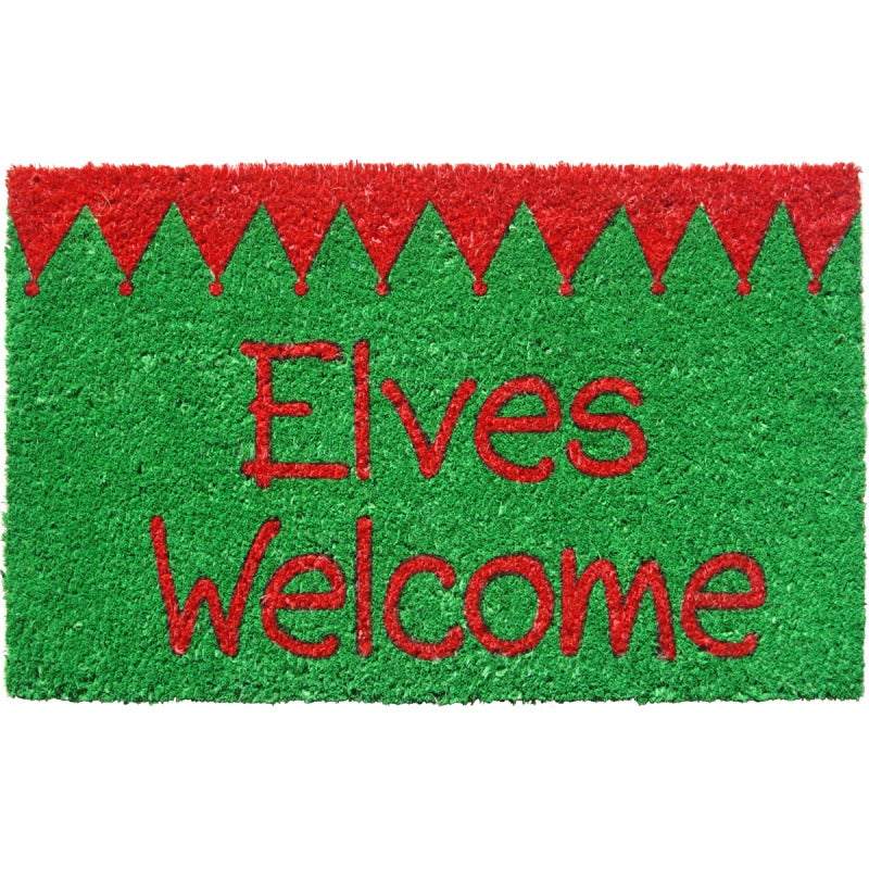 Shop Elves Welcome Non Slip Doormat Free Shipping On