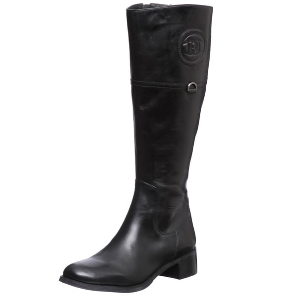Etienne Aigner 'Chastity' Black Leather Riding Boots