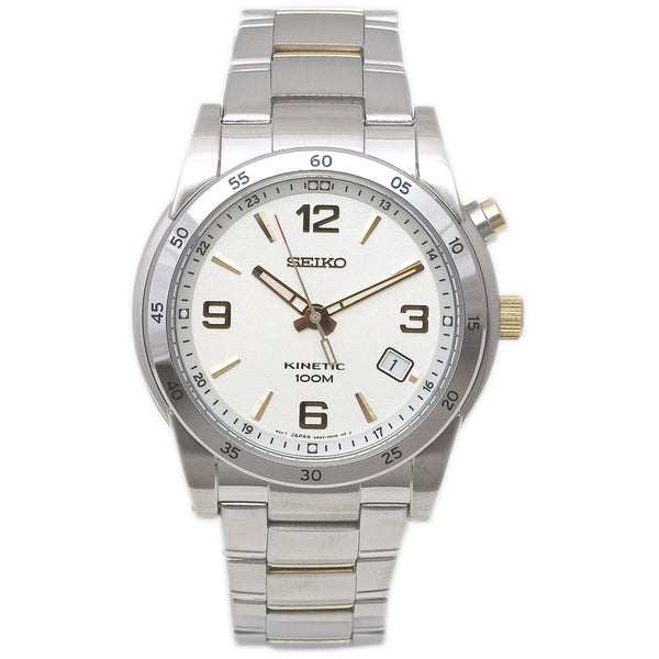 Seiko Men's Silver Kinetic Watch