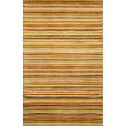 Hand-tufted Stripe Pastel (3'5 x 5'5)