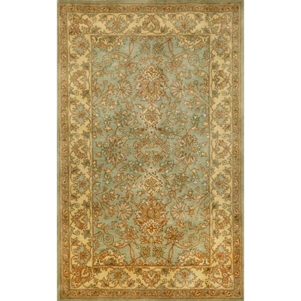 Hand-tufted Issa Aqua Wool Rug ( 3'5 x 5'5)