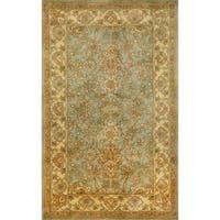 Hand-tufted Issa Aqua Wool Rug (5' x 8') - 5' x 8'