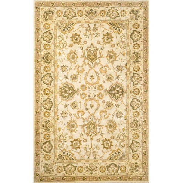 Hand-tufted Mahal Ivory Wool Rug (8' x 10')