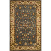 Hand-tufted Anatolia Grey Wool Rug - 8' x 10'