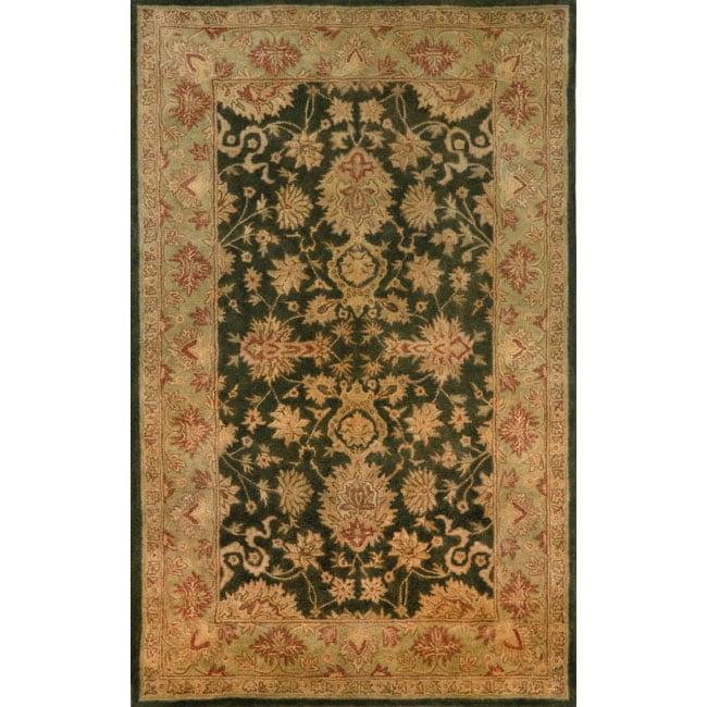 Hand-tufted Issa Green Wool Rug (8' x 10')