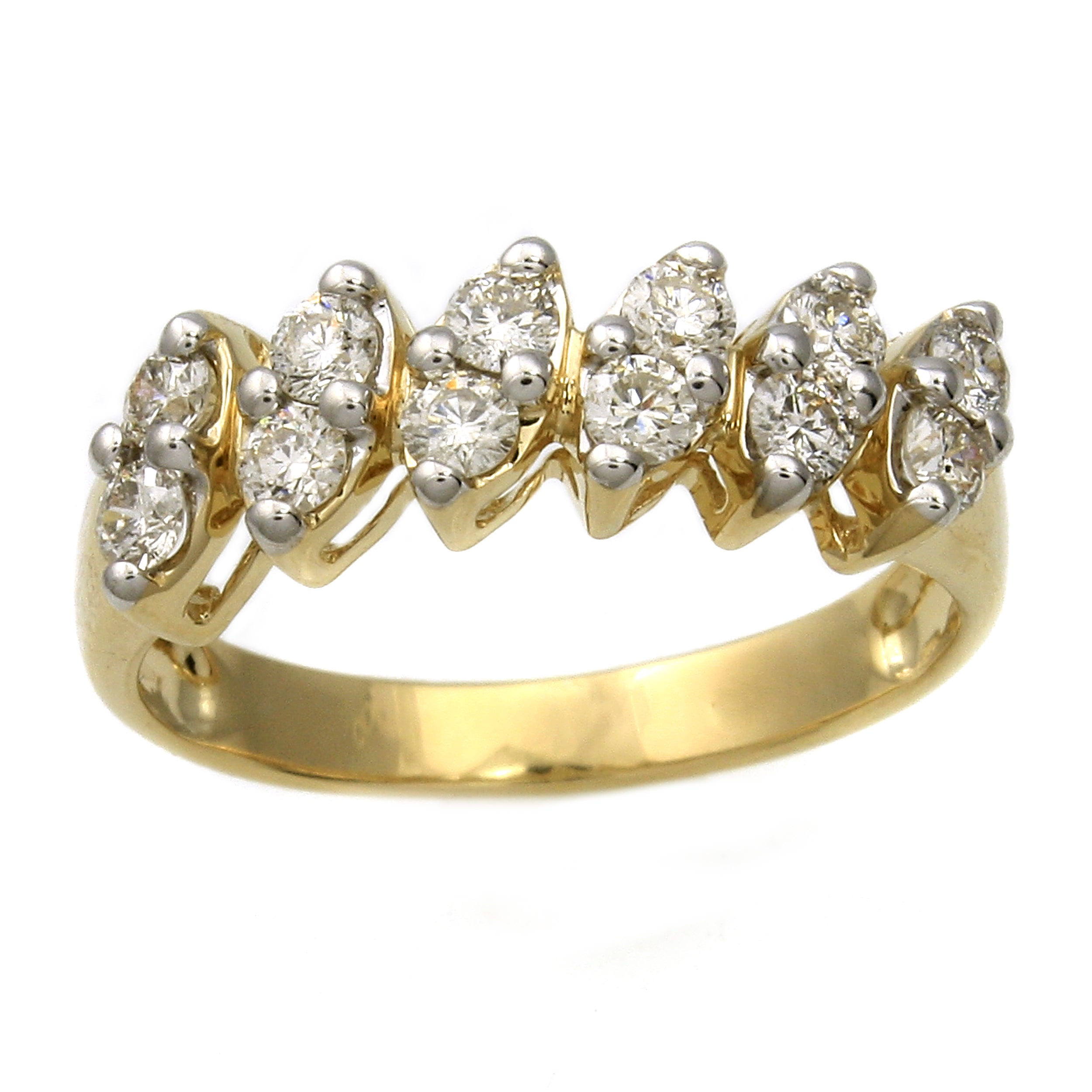 Beverly Hills Charm  14k Yellow Gold 3/5ct TDW Marquise Shape Diamond Ring (H-I, I1)