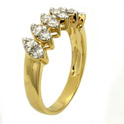 Beverly Hills Charm  14k Yellow Gold 3/5ct TDW Marquise Shape Diamond Ring (H-I, I1) - Thumbnail 1