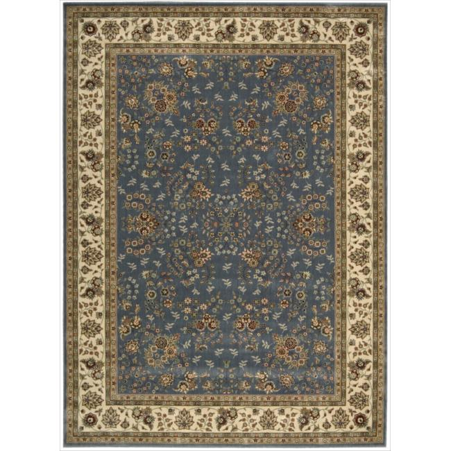 Nourison Persian Arts Light Blue Rug (9'6 x 13') - Thumbnail 0