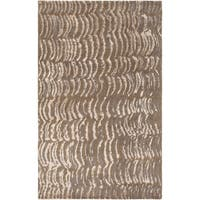 Hand-knotted Vilas Grey Abstract Design Wool Area Rug - 5' x 8'