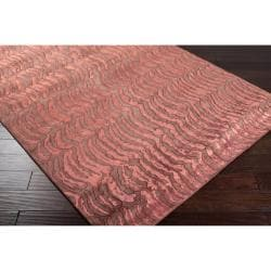 Hand-knotted Vilas Red Abstract Design Wool Rug (9' x 13') - Thumbnail 1
