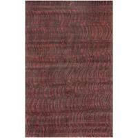 Hand-knotted Vilas Red Abstract Design Wool Area Rug - 9' x 13'