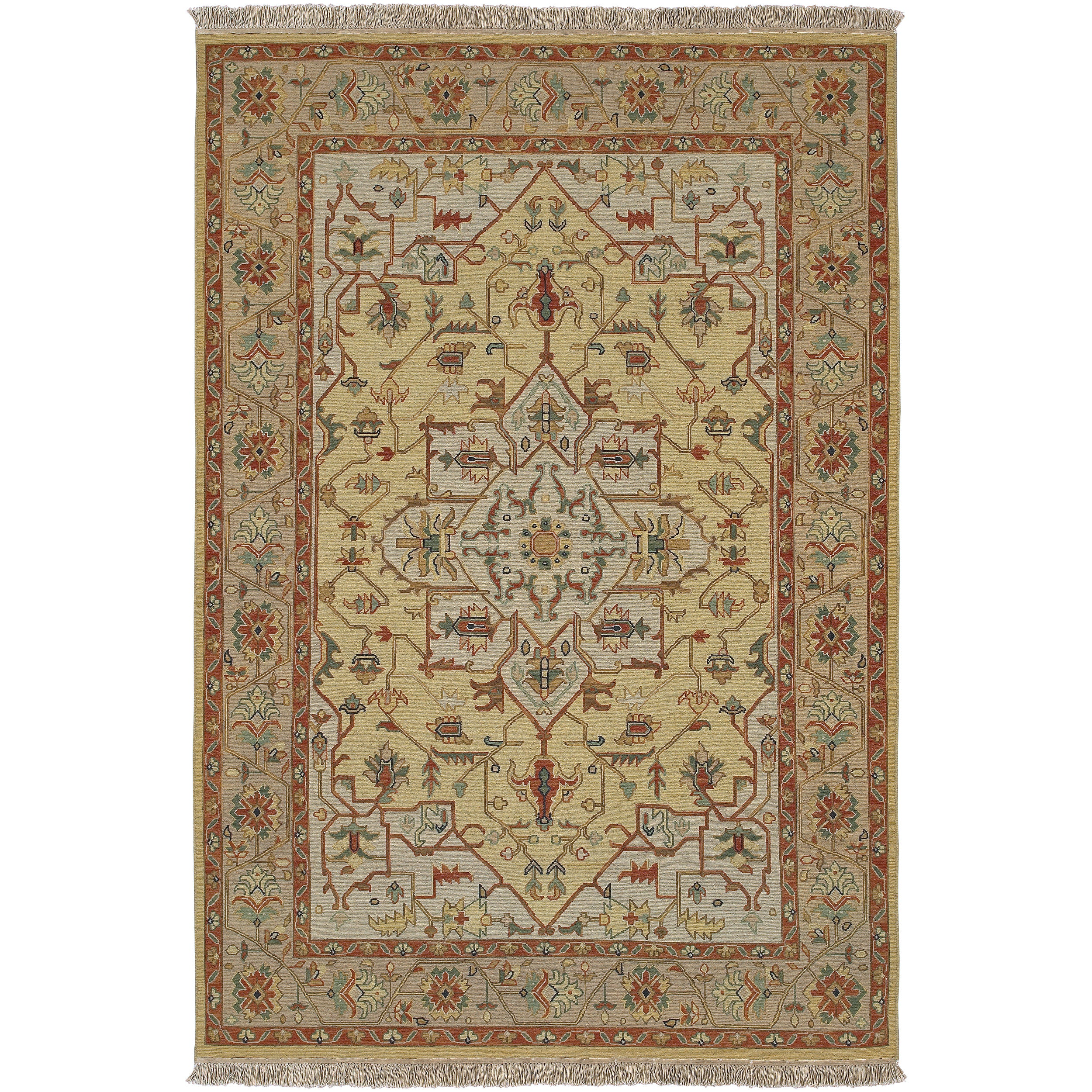 Hand-knotted Bristol Olive Wool Rug (4' x 6')