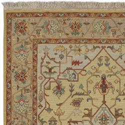 Hand-knotted Bristol Olive Wool Rug (4' x 6') - Thumbnail 1