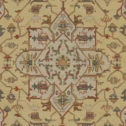 Hand-knotted Bristol Olive Wool Rug (4' x 6') - Thumbnail 2