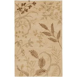 Hand-knotted Haines Beige Wool Rug (8' x 11')