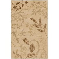 Hand-knotted Haines Beige Wool Area Rug - 8' x 11'