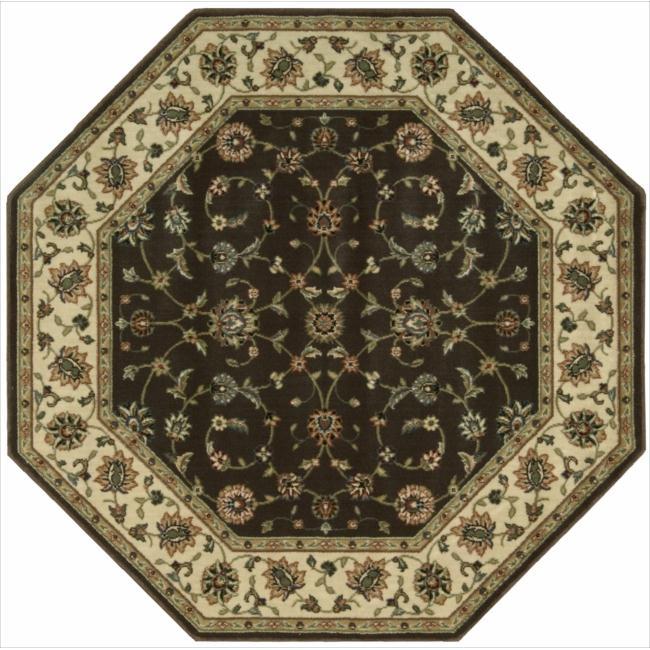 Nourison Persian Arts Brown Rug (5'3 x 5'3 Octagon)