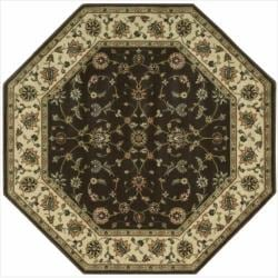 Nourison Persian Arts Brown Rug (5'3 x 5'3 Octagon)