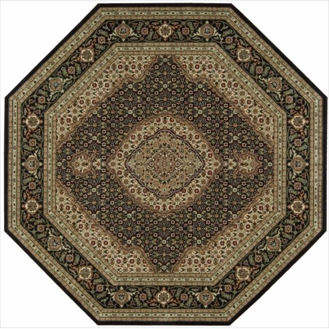 Nourison Persian Arts Black Rug (5'3 x 5'3 Octagon)