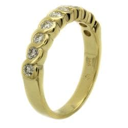 "Beverly Hills Charm 14k Yellow Gold 1/2ct TDW ""S"" Swirl Diamond Ring (H-I, I1) - Thumbnail 1"