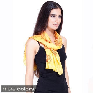 Handmade Om Summer Scarf (India)