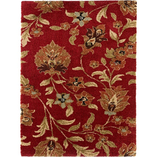 Fabulous Red Shag Rug (5'3 x 7'3)