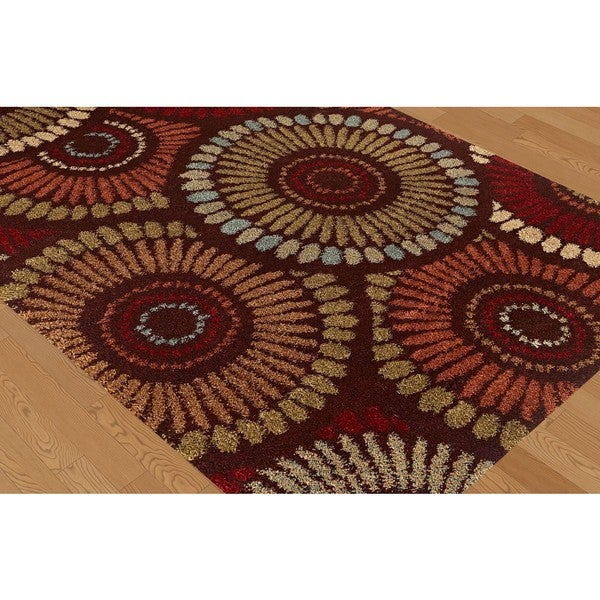 Alise Fabulous Multicolored Shag Rug (5'3""