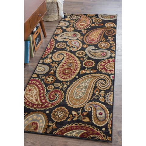 Alise Rugs Infinity Transitional Paisley Runner Rug - 2'7 x 7'3
