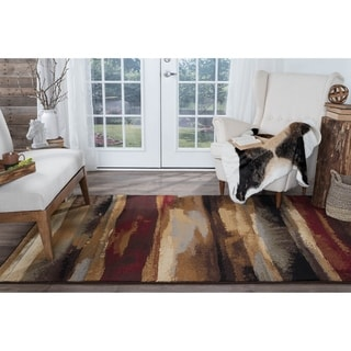 Alise Flora Red Area Rug (5'3 x 7'3) - 5'3 x 7'3