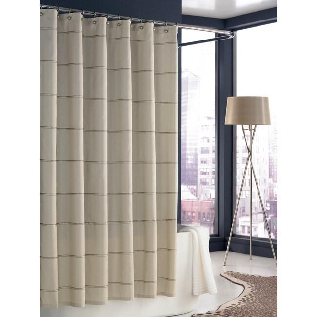Trump Home Mar-a-Lago Cream Stripe Shower Curtain