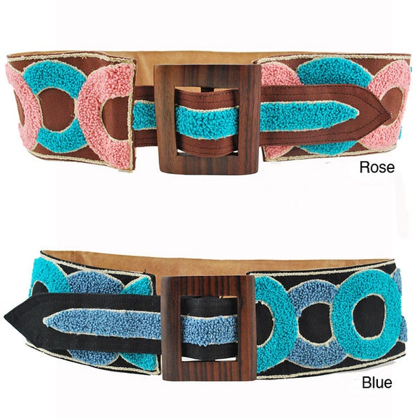 Handmade Circle of Friends Broad Embroidery Belt (Indonesia)