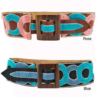 Handmade Circle of Friends Broad Embroidery Belt (Indonesia) (2 options available)