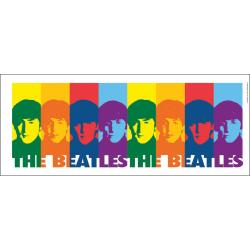Lamp-In-A-Box The Beatles Color Faces Brushed Nickel Table Lamp