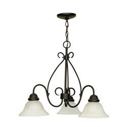 Buy alabaster chandeliers online at overstock our best castillo 3 light chandelier textured black finish with alabaster swirl glass aloadofball Image collections