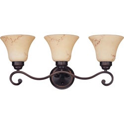 Anastasia - 3 Light Vanity - Copper Espresso Finish with Honey Marble Glass
