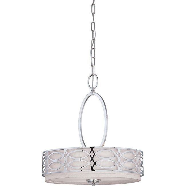 Harlow Polished Nickel 3-light Pendant - Thumbnail 0