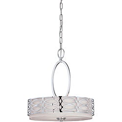 Harlow Polished Nickel 3-light Pendant