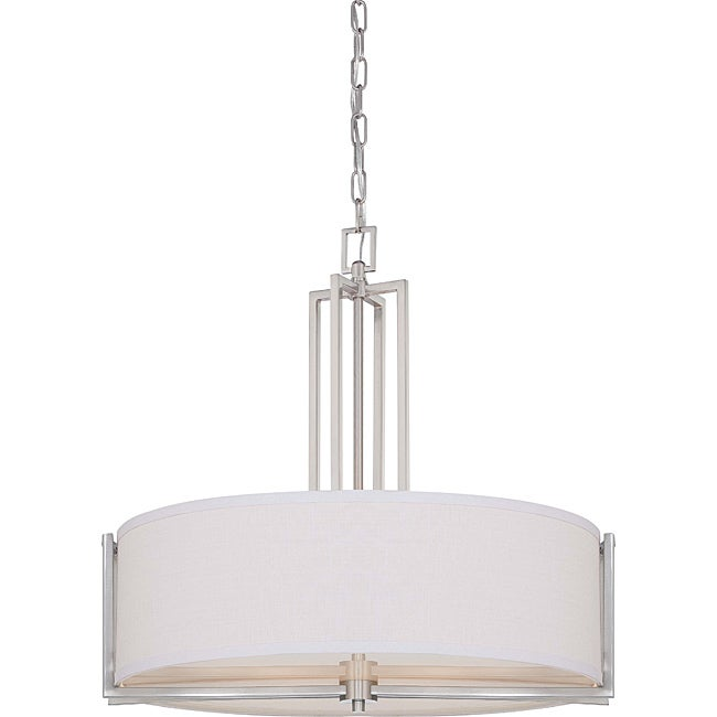 Gemini Brushed Nickel 4-light Pendant - Thumbnail 0