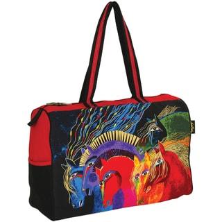 """Travel Bag Zipper Top 21""""X8""""X15""""-Wild Horses Of Fire"""